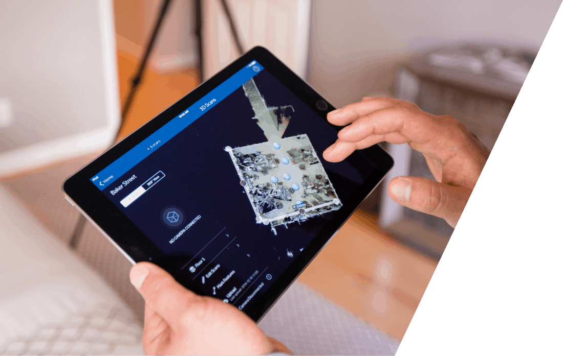 iPad collegato a Matterport Pro2 3D Camera